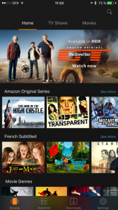 Prime video sur Smartphone